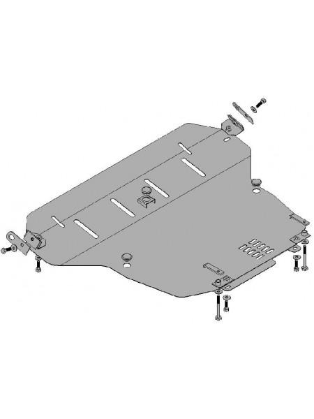 Защита двигателя, КПП, радиатора для авто Honda Accord VII 2002-2008 V-все бензин МКПП АКПП ( TM Kolchuga ) ZiPoFlex