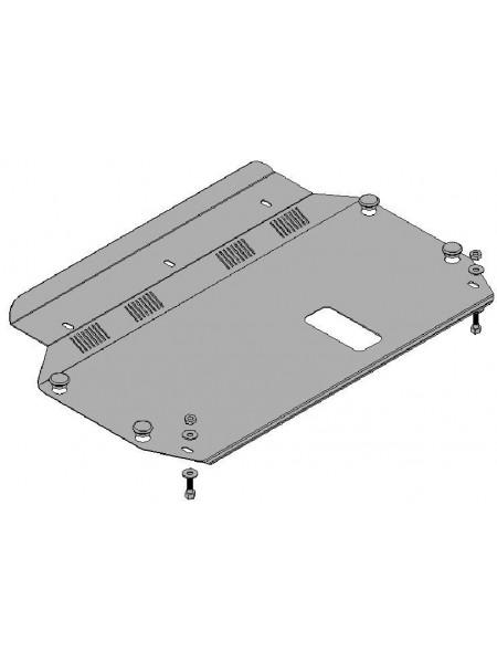 Защита двигателя, КПП, радиатора для авто Kia Rio II 2005-2011 V-1,4; 1,5; (МКПП, АКПП) ( TM Kolchuga ) ZiPoFlex