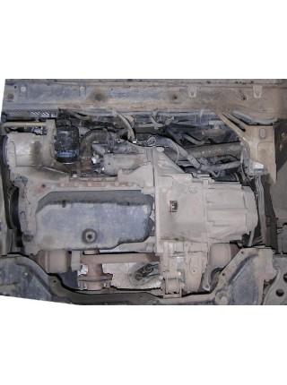 Защита двигателя, КПП, радиатора для авто Fiat Ducato II поколение 1994-2006 2,0 1,9D 2,2D 2,3D 2,5D 2,8 TDI кроме 2,5TDI ( TM Kolchuga ) ZiPoFlex