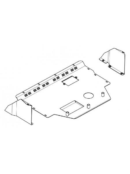 Защита двигателя, КПП, радиатора для авто Citroen Jumper I 1994-2006 V-2,0 1,9D 2,0D 2,3D 2,8D кроме 2,5TDI ( TM Kolchuga ) ZiPoFlex