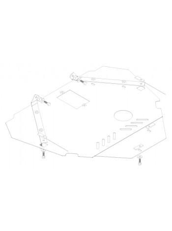 Защита двигателя, КПП, радиатора для авто Ford S-Max 2006-2014 V- все (дизель) ( TM Kolchuga ) Стандарт