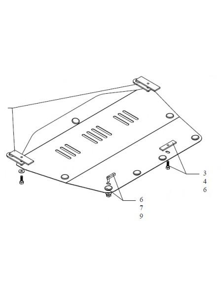 Защита двигателя, КПП, радиатора для авто Honda Civic VIII 2006-2012 V-все седан МКПП АКПП ( TM Kolchuga ) Стандарт