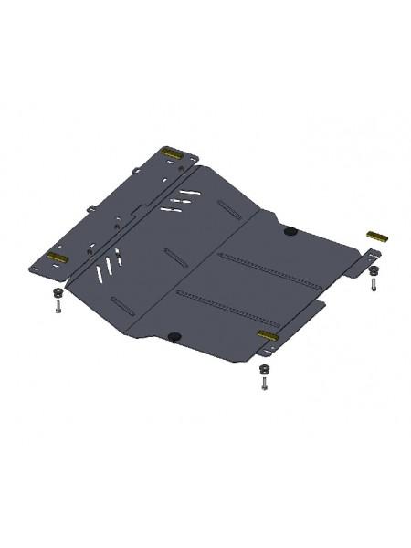 Защита двигателя, КПП, радиатора для авто Citroen С1 2005-2014 V-1,0; 1,4; ( TM Kolchuga ) ZiPoFlex