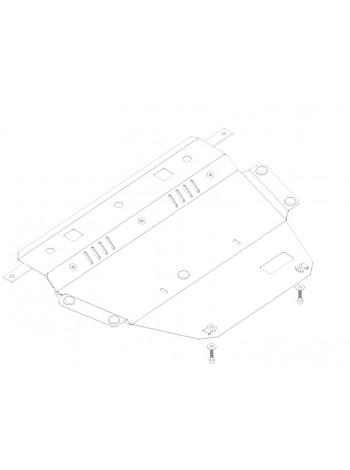Защита двигателя, КПП, радиатора (частично) для авто Citroen C4 Picasso 2006-2013 V-все ( TM Kolchuga ) ZiPoFlex