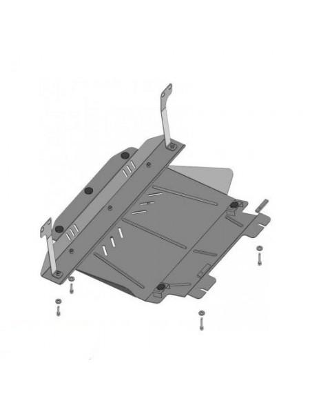 Защита двигателя, КПП, радиатора для авто Ford Fusion 2002-2012 V-1,6 D ( TM Kolchuga ) ZiPoFlex