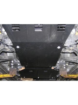 Защита двигателя, КПП, радиатора, редуктор для авто Jeep Commander 2006-2010 V-3,0CRD АКПП ( TM Kolchuga ) ZiPoFlex