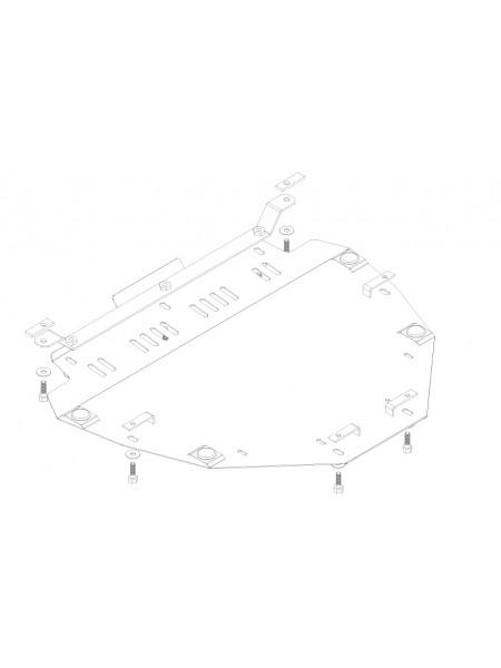 Защита двигателя и КПП для авто Honda CR-V III 2007-2013 V-2,0и (МКПП АКПП) ( TM Kolchuga ) ZiPoFlex