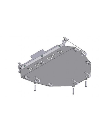 Защита двигателя и КПП для авто Honda CR-V III 2007-2013 V-2,2D; (АКПП) ( TM Kolchuga ) ZiPoFlex