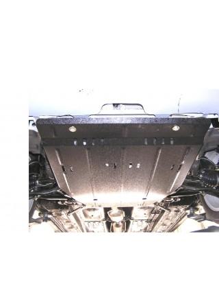 Защита двигателя, КПП, радиатора для авто Geely MK седан 2006- V-1,5 МКПП сборка Украина ( TM Kolchuga ) ZiPoFlex