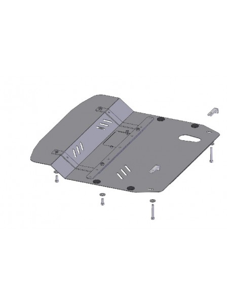 Защита двигателя, КПП, радиатора для авто Kia Magentis II 2005-2011 V-все МКПП АКПП ( TM Kolchuga ) ZiPoFlex