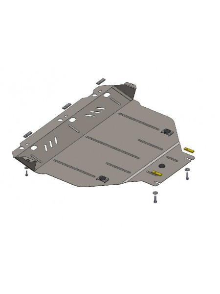 Защита двигателя, КПП, радиатора для авто Ford Kuga 2008-2013 V-все (АКПП, МКПП) ( TM Kolchuga ) Стандарт