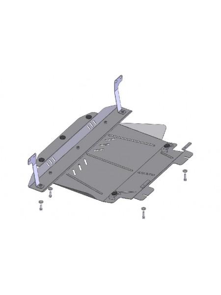 Защита двигателя, КПП, радиатора для авто Ford Fiesta VI JH 2001-2008 V-все бензин ( TM Kolchuga ) Стандарт
