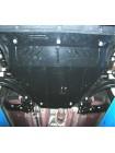 Защита двигателя, КПП, радиатора для авто Nissan X-Trail T31 2007-2014 V-все ( TM Kolchuga ) ZiPoFlex