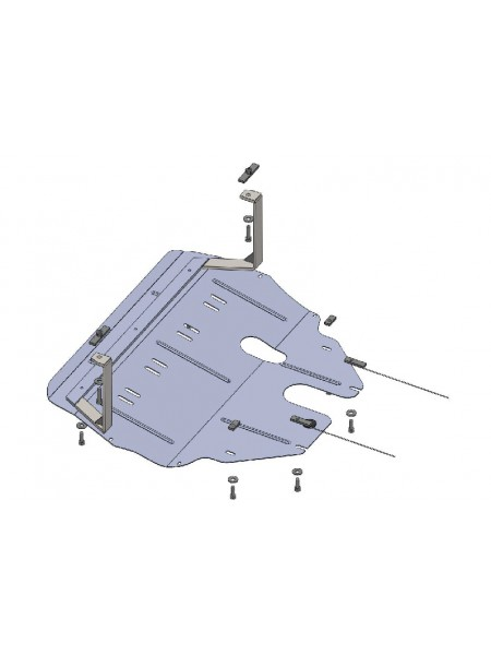 Защита двигателя, КПП, радиатора для авто Seat Ibiza 2007-2017 V-все ( TM Kolchuga ) ZiPoFlex