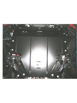 Защита двигателя, КПП, радиатора для авто Kia Soul 2008-2013 V-все (МКПП, АКПП) ( TM Kolchuga ) ZiPoFlex