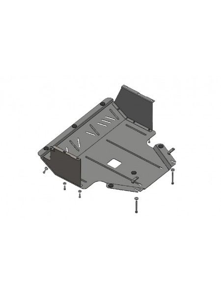 Защита двигателя, КПП, радиатора для авто Kia Soul 2008-2013 V-все МКПП АКПП ( TM Kolchuga ) ZiPoFlex