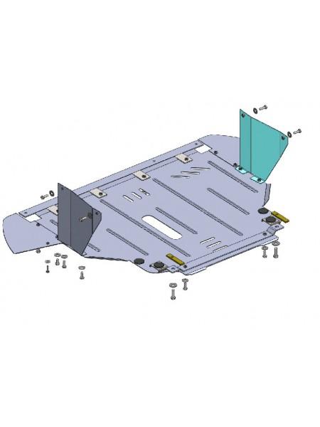 Защита двигателя, КПП, радиатора для авто Fiat Punto Evo 2012 2009-2012- V-1,4 бензин ( TM Kolchuga ) ZiPoFlex