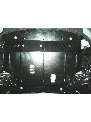 Защита двигателя, КПП, радиатора для авто Ford Fiesta VII 2008- V-все (МКПП, АКПП) ( TM Kolchuga ) ZiPoFlex