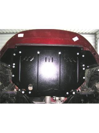 Защита двигателя, КПП, радиатора для авто Fiat Punto Evo 2012 2009-2012- V-1,3D (МКПП, робот) ( TM Kolchuga ) ZiPoFlex