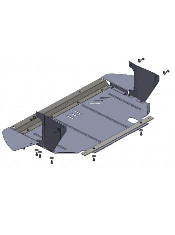 Защита двигателя, КПП, радиатора для авто Fiat Punto Evo 2012 2009-2012- V-1,3D (МКПП, робот) ( TM Kolchuga ) Стандарт