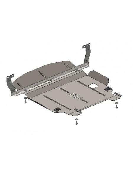 Защита двигателя, КПП, радиатора для авто Ford Fiesta VI 2001-2008 V-1,4 D ( TM Kolchuga ) ZiPoFlex