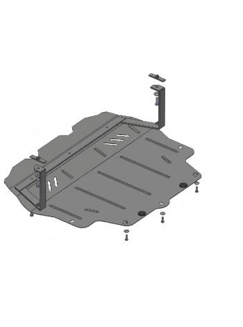 Защита двигателя, КПП, радиатора для авто Volkswagen Passat B7 2010-2015 V-1,4; 1,6D; 2,0 D; 2,0i Б; ( TM Kolchuga ) Стандарт