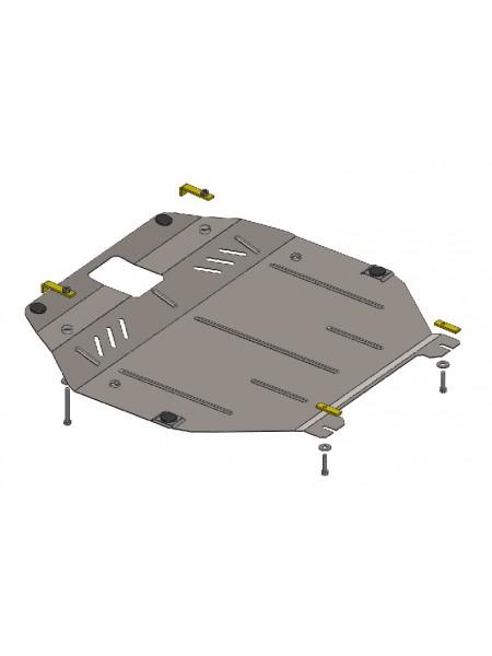 Защита двигателя, КПП, радиатора для авто Hyundai Sonata YF 2010 V-все (АКПП, овальный подрамник) ( TM Kolchuga ) ZiPoFlex