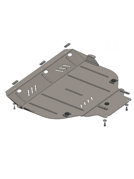 Защита двигателя, КПП, радиатора для авто Volvo V50 2004-2012 1.6; 1.8; 2.0; 2.4; 2.5; 1.6D; 2,0; 2.4D; ( TM Kolchuga ) ZiPoFlex