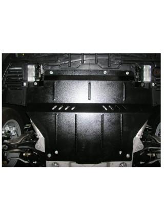 Защита двигателя, КПП, радиатор частично для авто Peugeot 508 2010-2014 V-1,8; 2.0 HDI; (балка передней подвески алюминиевая) ( TM Kolchuga ) ZiPoFlex