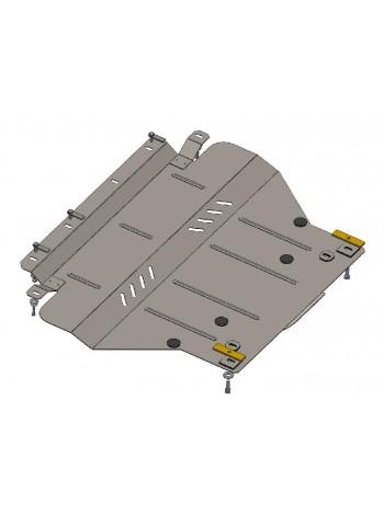 Защита двигателя, КПП, радиатора частично для авто Citroen С5 2008- V-1,8; 2.0 HDI;  (балка передней подвески алюминиевая) ( TM Kolchuga ) ZiPoFlex