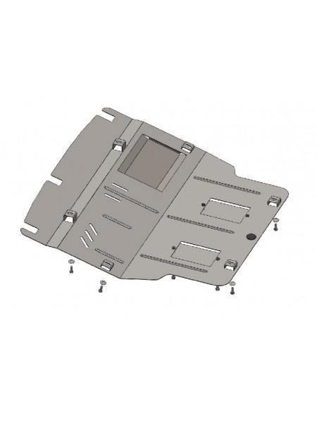 Защита двигателя, КПП, радиатора и кондиционера для авто Volkswagen T-6 2009- V-все ( TM Kolchuga ) Стандарт