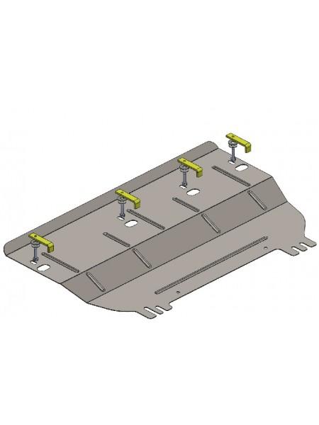 Защита двигателя, КПП, радиатора для авто Peugeot 207 2006- V-все (МКПП, АКПП, бензин дизель) ( TM Kolchuga ) ZiPoFlex