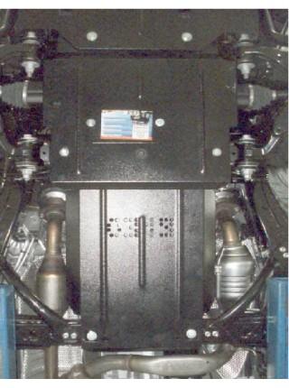 Защита двигателя, КПП, радиатора для авто Toyota Land Cruiser Prado J150 2009- V-4.0 (бензин, 4,0 только АКПП, 2,7 только МКПП) ( TM Kolchuga ) ZiPoFlex