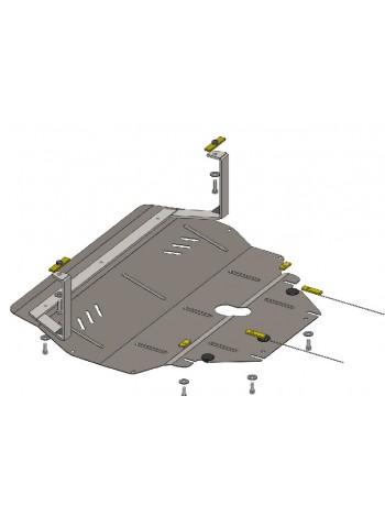 Защита двигателя, КПП, радиатора для авто Volkswagen Polo 2009- V-1,2 D ( TM Kolchuga ) ZiPoFlex