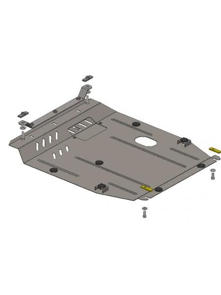 Защита двигателя, КПП, радиатора для авто Jeep Compass 2011-2017 V-2,0; 2,4; (АКПП) ( TM Kolchuga ) ZiPoFlex