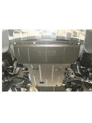 Защита двигателя, КПП, радиатора, редуктора для авто Jeep Grand Cherokee 2011- V-3.0 D; 3,6 ( TM Kolchuga ) ZiPoFlex