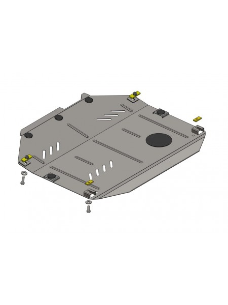 Защита двигателя,КПП, раздат. коробки частично для авто Chevrolet Equinox 2011- V-2,4 ( TM Kolchuga ) ZiPoFlex