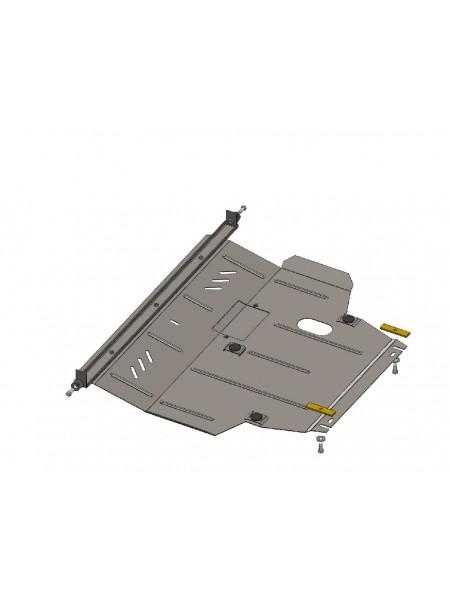 Защита двигателя, КПП, радиатора для авто Geely Emgrand ЕС7 2011- V-все (МКПП, АКПП) ( TM Kolchuga ) ZiPoFlex