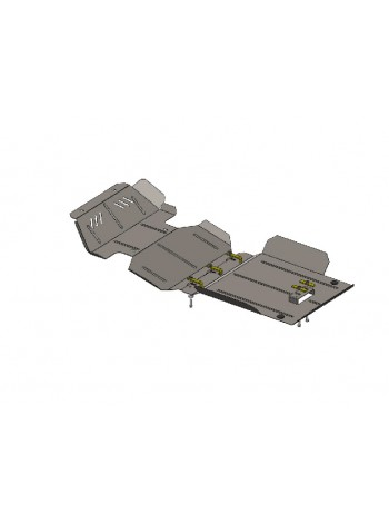 Защита двигателя , КПП, радиатора для авто Great Wall Wingle5 2011- V-2,4 I (МКПП, только бензин) ( TM Kolchuga ) ZiPoFlex