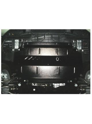Защита двигателя, КПП, радиатора (частично) для авто Peugeot 508 2010-2014 V-1,6HDI; 2.0 HDI; (балка передней подвески из стали) ( TM Kolchuga ) Стандарт
