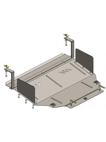 Защита двигателя, КПП, радиатора для авто Hyundai Sonata YF 2010-2014 V-все (подрамник как знак бесконечности) ( TM Kolchuga ) ZiPoFlex