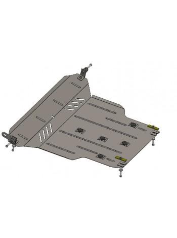 Защита двигателя, КПП, радиатора для авто Chery Tiggo 3 2014- V-все ( TM Kolchuga ) ZiPoFlex