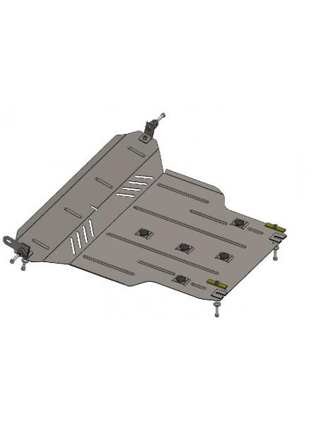 Защита двигателя, КПП, радиатора для авто Chery Tiggo 3 2014- V-все МКПП ( TM Kolchuga ) Стандарт