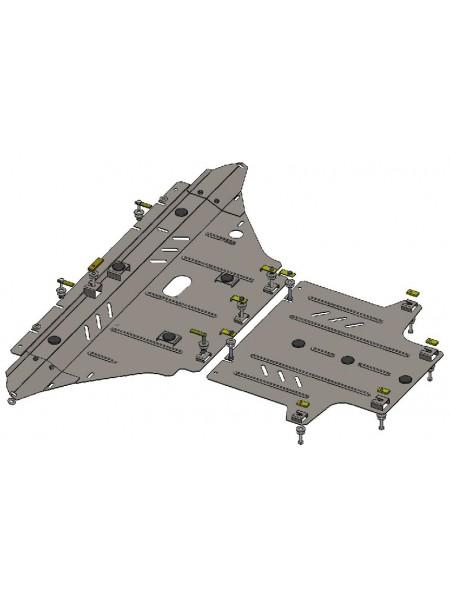 Защита двигателя, КПП, радиатора для авто Audi A4 В8 2007-2011 V-2,0TDI; 3,0TDI; (только гидроусилитель) ( TM Kolchuga ) ZiPoFlex