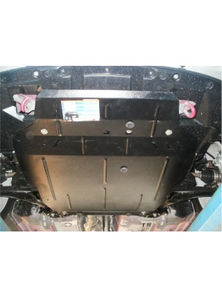 Защита двигателя, КПП, радиатора для авто Mitsubishi Outlander XL 2005-2012 V-2,0; 2,4; (АКПП, МКПП, только бензин) ( TM Kolchuga ) ZiPoFlex