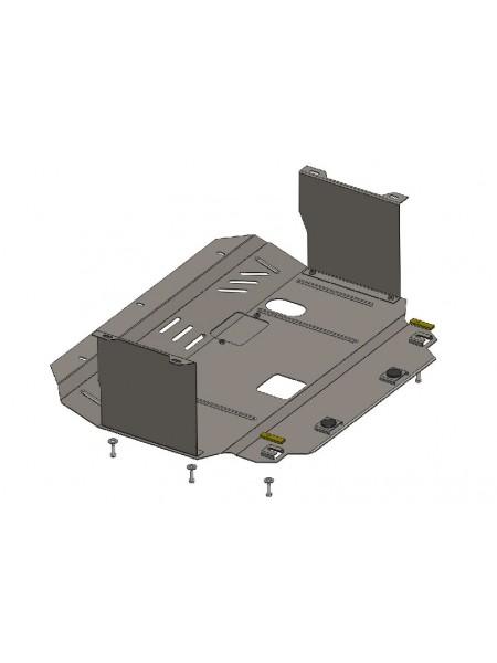 Защита двигателя, КПП, частично радиатора для авто Kia Ceed 2012-2015 V-все МКПП АКПП только бензин ( TM Kolchuga ) ZiPoFlex