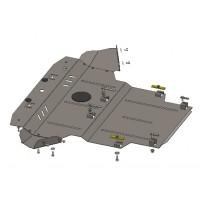 Защита двигателя, КПП, радиатора для авто Skoda Superb I 2001-2008 V-до 2,0 2,0D включительно ( TM Kolchuga ) Стандарт