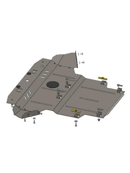Защита двигателя, КПП, радиатора для авто Skoda Superb I 2001-2008 V-до 2,0 2,0D включительно ( TM Kolchuga ) ZiPoFlex