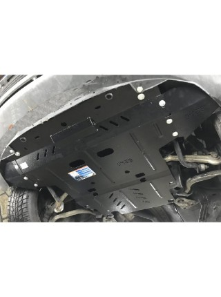 Защита двигателя, КПП, радиатора для авто Volkswagen Passat B5 1996-2005 V-1.6i; 1.8i; 1.8T; 2.0i; 1.9TDI; (АКПП, МКПП) ( TM Kolchuga ) ZiPoFlex