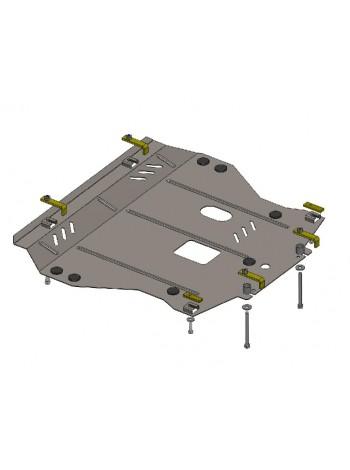 Защита двигателя, КПП, радиатора для авто Nissan Juke 2011- V-все ( TM Kolchuga ) ZiPoFlex